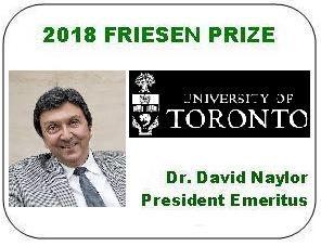 2018 Friesen Prize - Dr. David Naylor