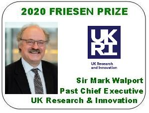 2020 Friesen Prize - Sir Mark Walport