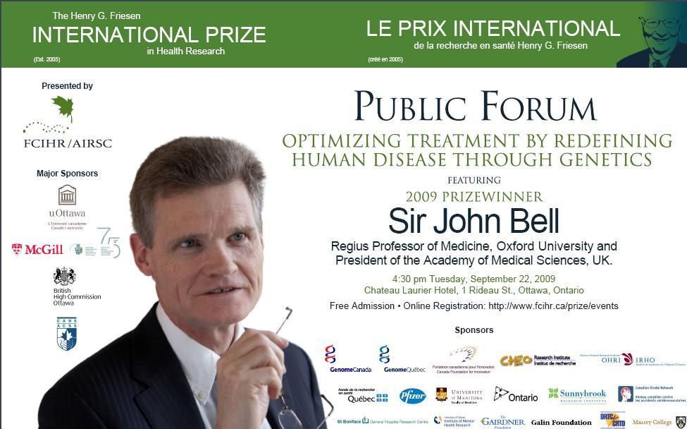 2009 Friesen Prize - Public Forum - John Bell
