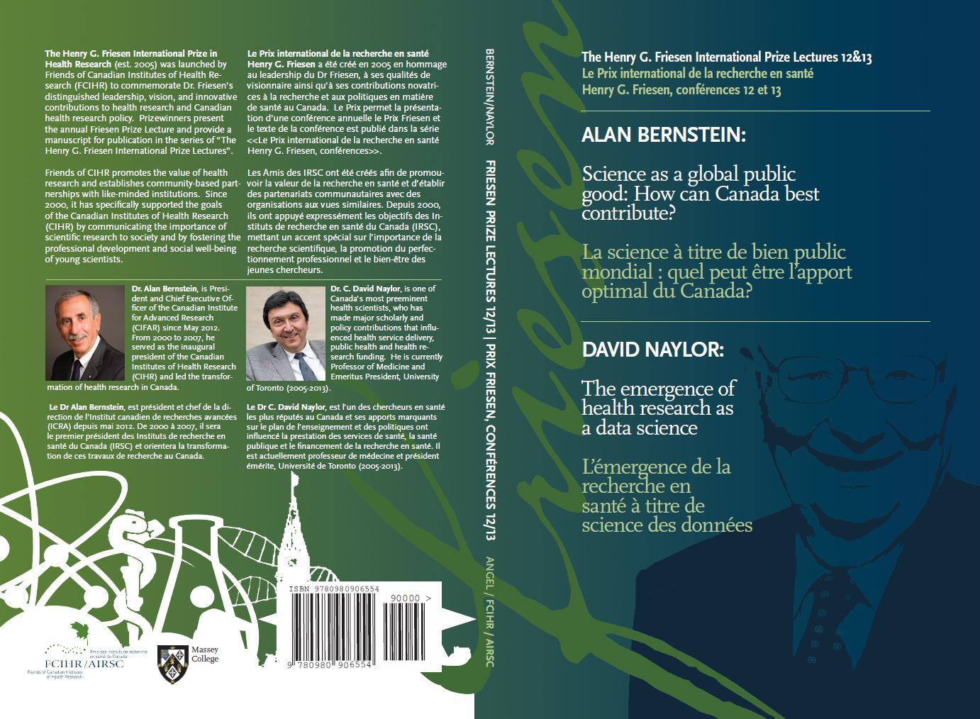FRONT & BACK COVER - Book #6 - Friesen Lectures 12 & 13 - Alan Bernstein & David Naylor