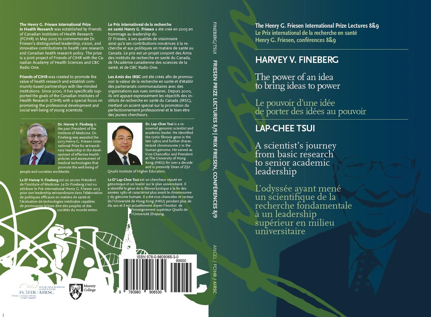 Front & Back Cover - Book #4 - Friesen Prize Lectures 8 & 9 - Fineberg & Tsui