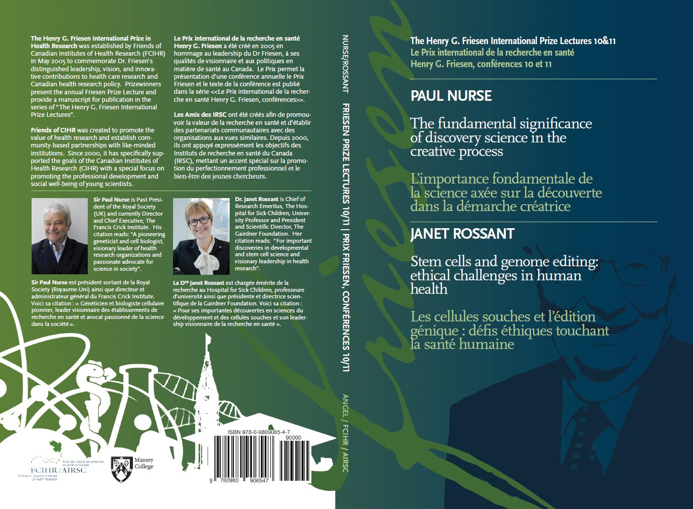 Front & Back Cover - Book #5 - Friesen Lectures - Sir Paul Nurse and Janet Rossant