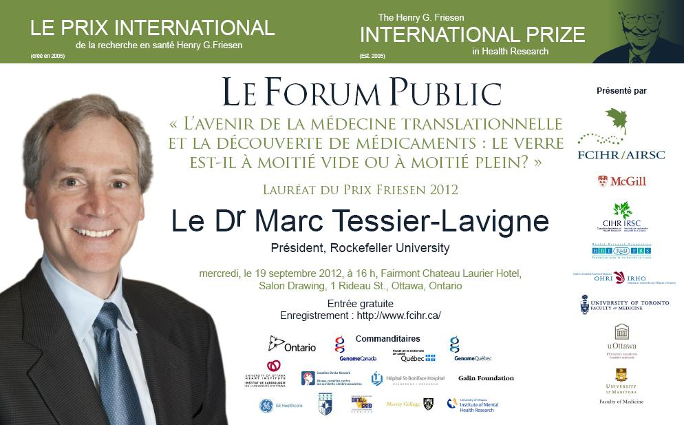 2012 Friesen Prize - Public Forum - Fre - Poster - September 19, 2012