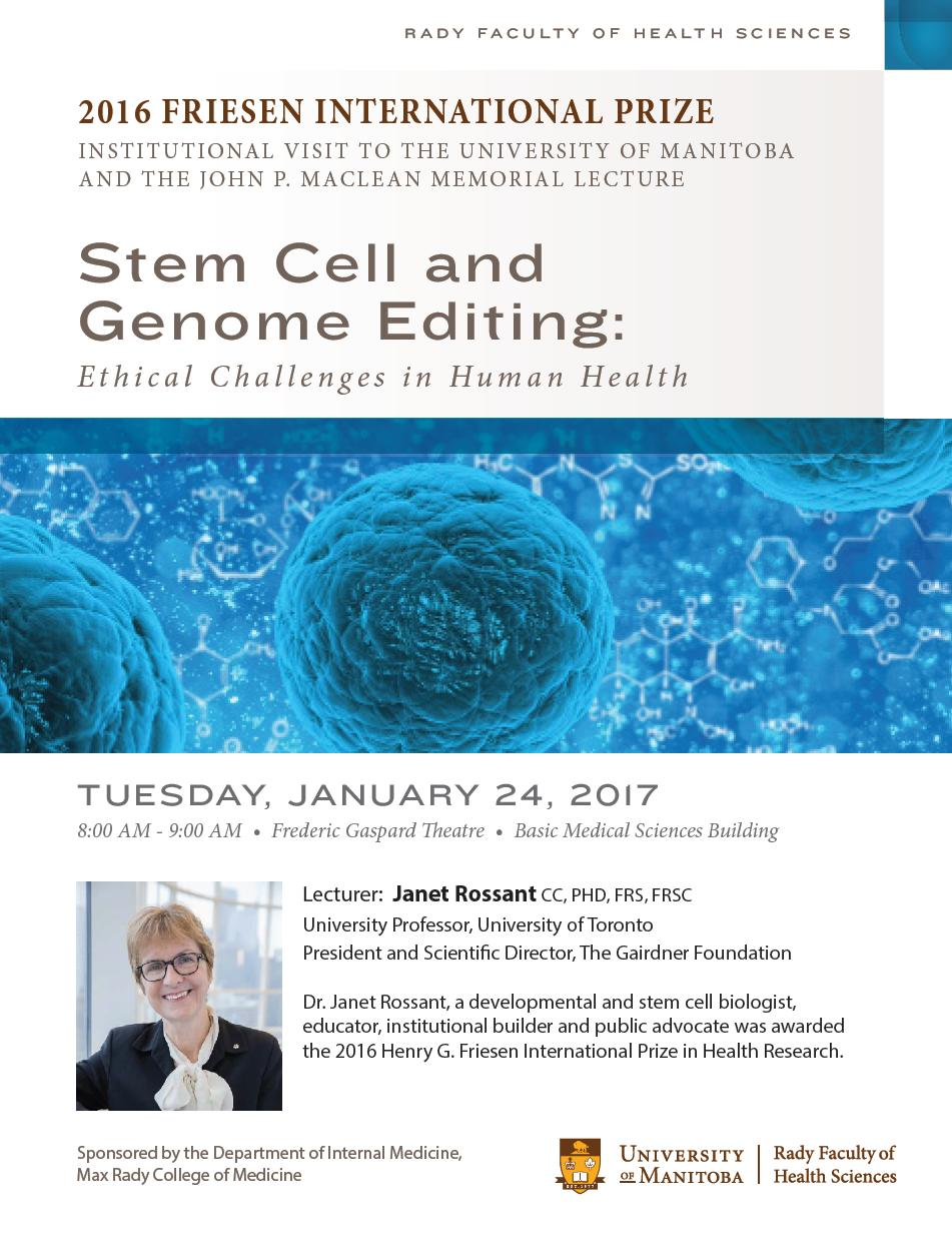 POSTER - From Ilana Simon - 2017 U Manitoba - Dr Janet Rossant - Dr JP Maclean Lecture v2_Received on January 17, 2017