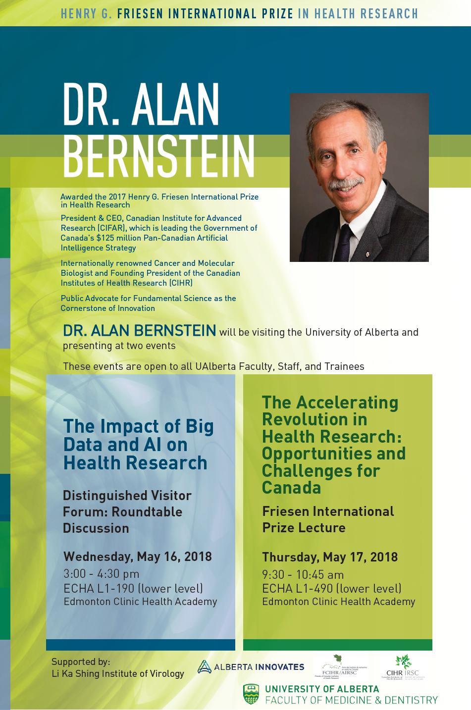 POSTER - 2018 U Alberta - Dr. Alan Bernstein