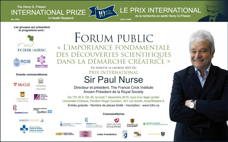 2015 Poster - Final - French - Friesen Prize - December 7, 2015