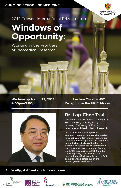 U Calgary Poster - Dr. Lap-Chee Tsui