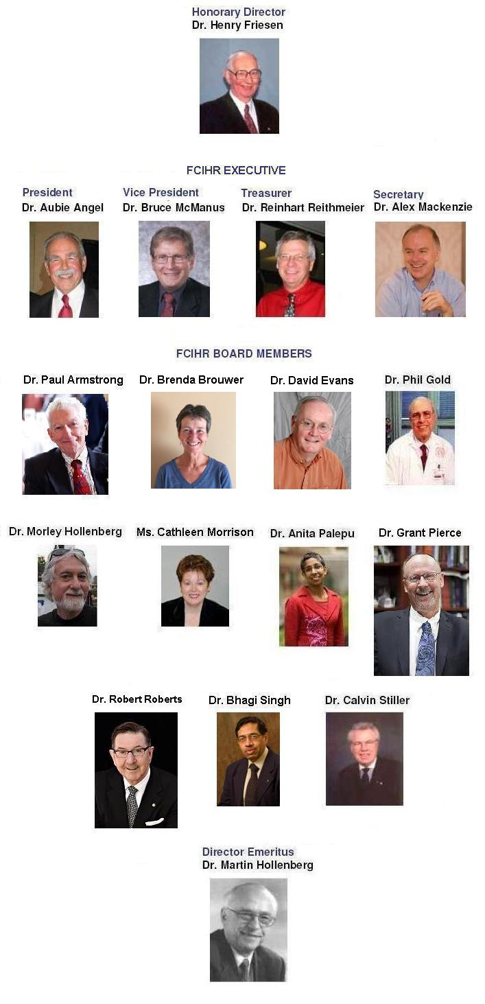 2016 FCIHR Board Members - As of January 27, 2016