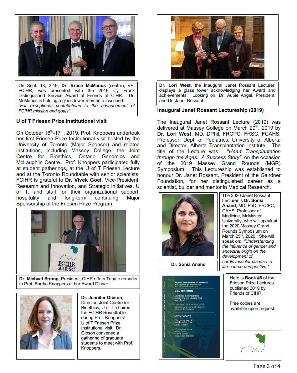 Page 2 - 2019 Spotlight Newsletter of FCIHR