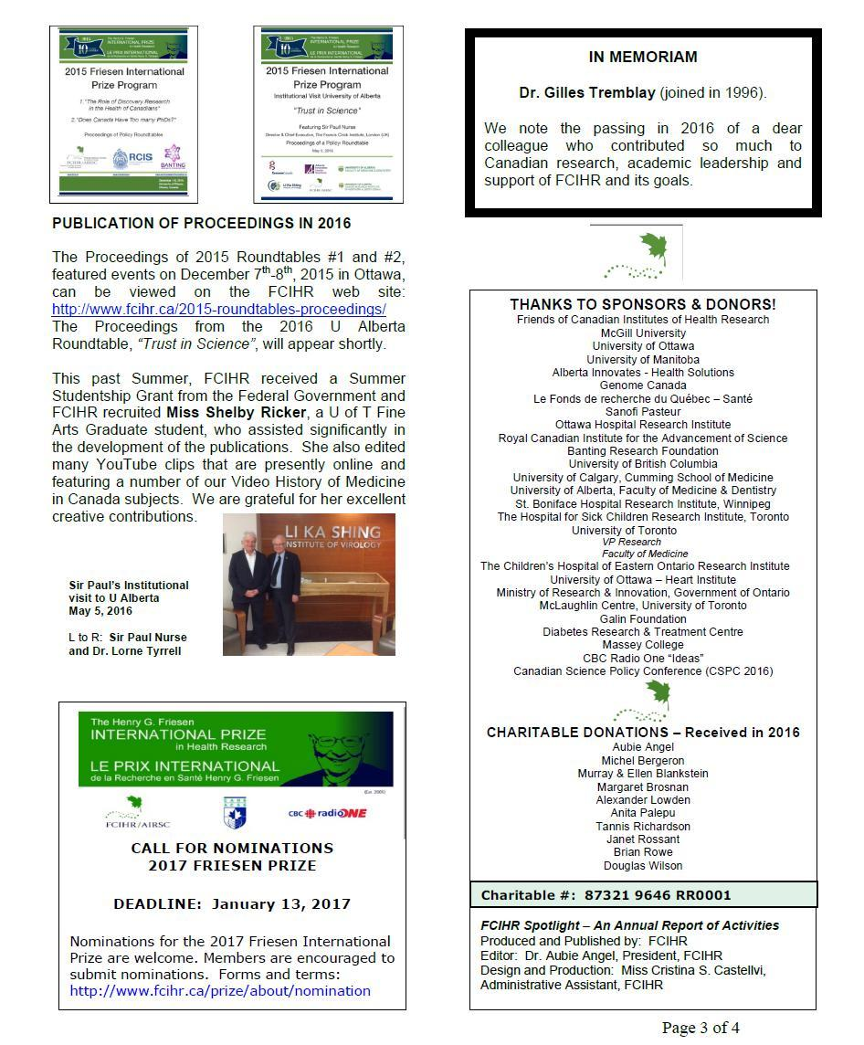 Page 3 - Addition on March 1, 2017 - 2016 Spotlight Newsletter of FCIHR