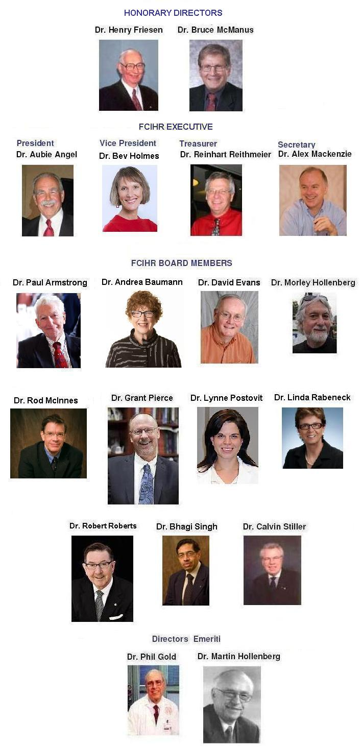 2020 FCIHR Board Members - As of January 23, 2020