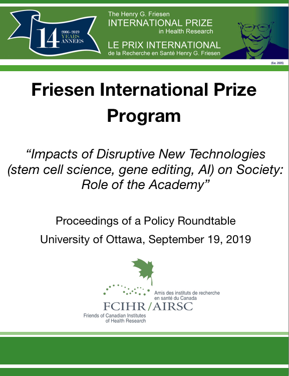 2019 Proceedings - FCIHR Roundtable